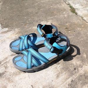 Keen Blue Open Toe Strappy Sandals Women's 9,5